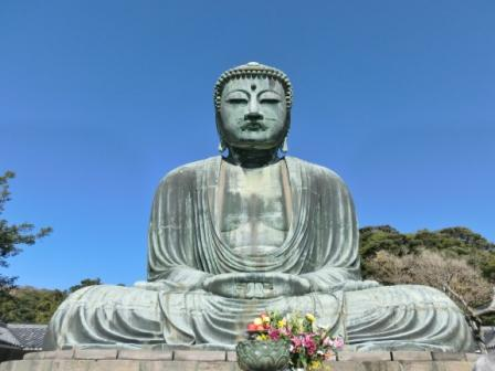 The Great Buddha in Kamakura, Japan.